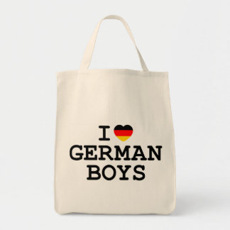 I Heart German Boys Tote Bag