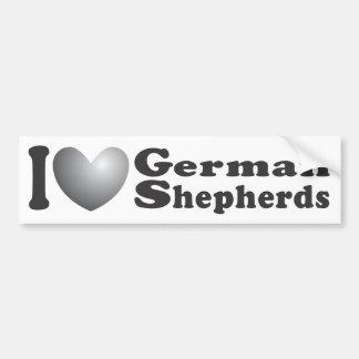 I Heart German Shepherds - Bumper Sticker