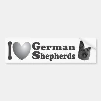 I Heart German Shepherds w/Image - Bumper Sticker