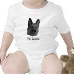 I Heart German Shepherds w/Stylised Image Baby Creeper