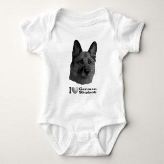 I Heart German Shepherds w/Stylized Image Baby Bodysuit