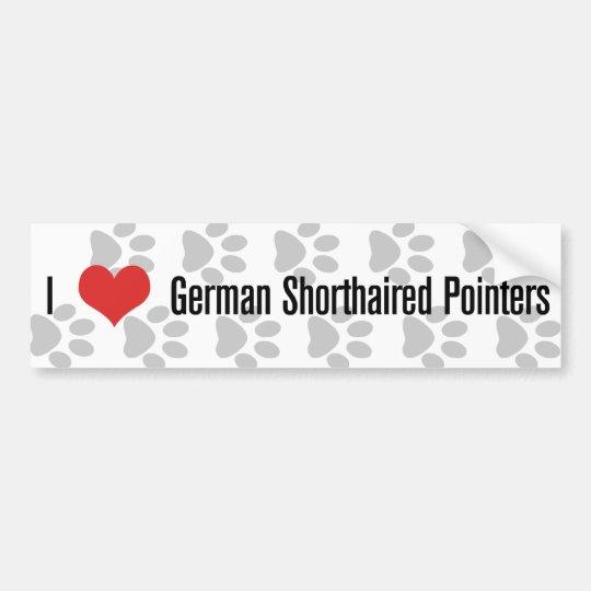 I (heart) German Shorthaired Pointers Bumper Sticker