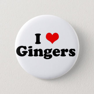 I Heart Gingers 6 Cm Round Badge