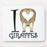 I Heart Giraffes Mousepad