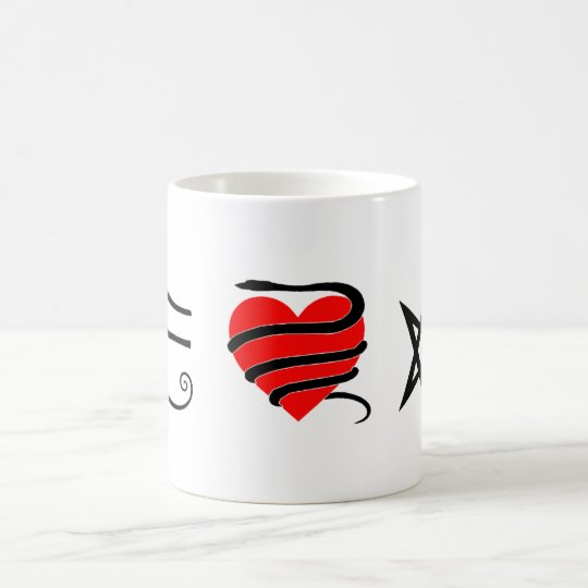 I Heart (Girt with a Serpent) Thelema Coffee