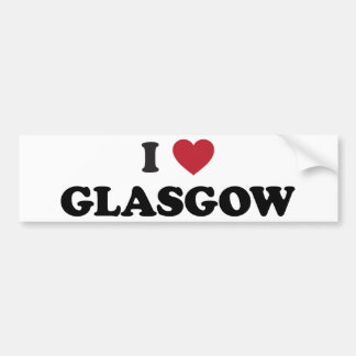 I Heart Glasgow Scotland Bumper Sticker
