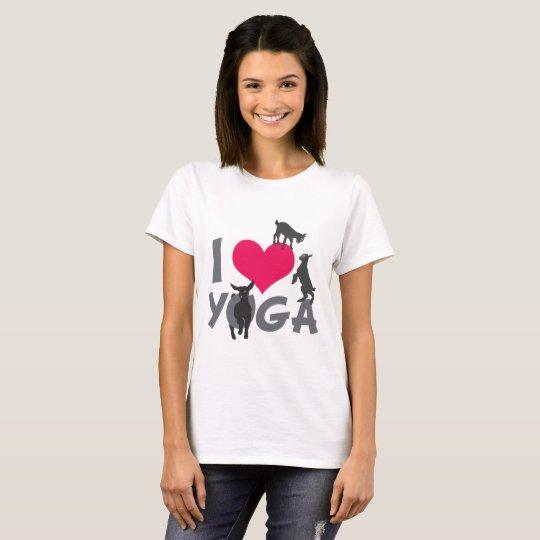 I HEART GOAT YOGA | GetYerGoat™ T-Shirt