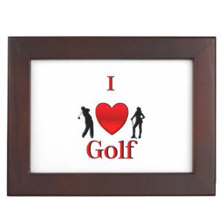I Heart Golf Keepsake Box