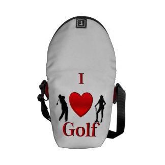 I Heart Golf Messenger Bags