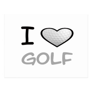 I Heart Golf Post Cards