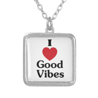 I heart good vibes necklace