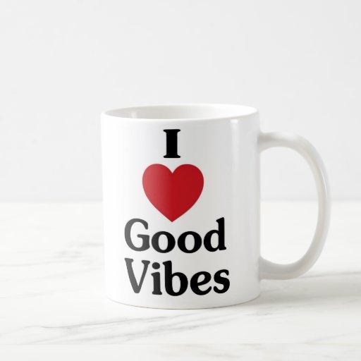 I heart good vibes simple love coffee mug