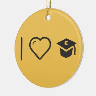 I Heart Graduate Kits Round Ceramic Decoration