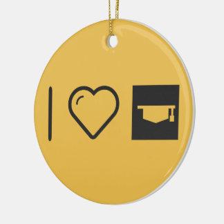 I Heart Graduation Locations Round Ceramic Decoration