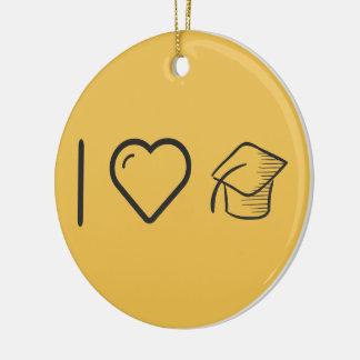 I Heart Graduation Times Round Ceramic Decoration