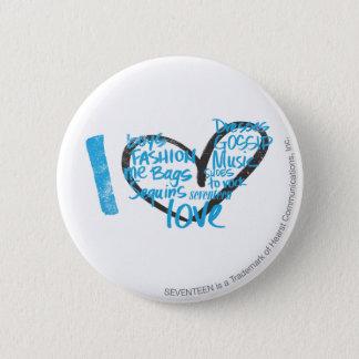 I Heart Graffiti Aqua 6 Cm Round Badge