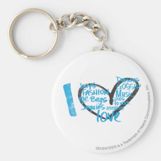 I Heart Graffiti Aqua Key Ring