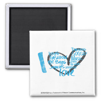 I Heart Graffiti Aqua Refrigerator Magnets