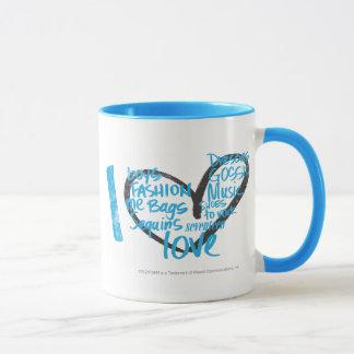 I Heart Graffiti Aqua Mug
