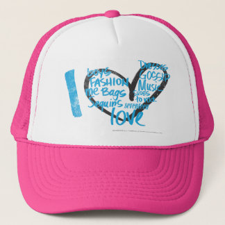 I Heart Graffiti Aqua Trucker Hat