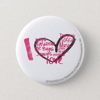 I Heart Graffiti Magenta 6 Cm Round Badge