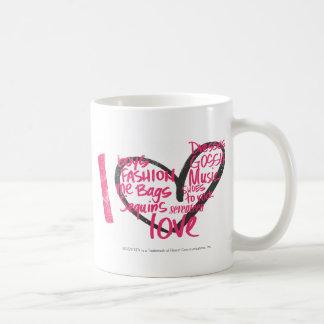 I Heart Graffiti Magenta Coffee Mug