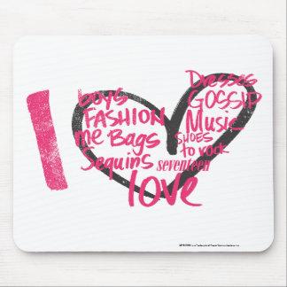 I Heart Graffiti Magenta Mouse Mat