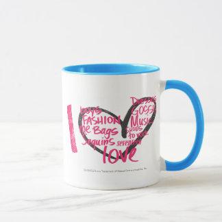 I Heart Graffiti Magenta Mug