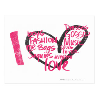 I Heart Graffiti Magenta Postcard