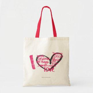 I Heart Graffiti Magenta Tote Bag