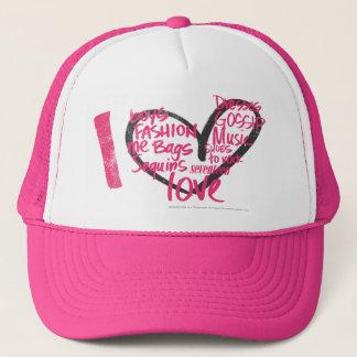 I Heart Graffiti Magenta Trucker Hat