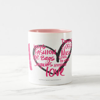 I Heart Graffiti Magenta Two-Tone Coffee Mug