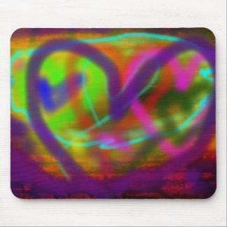 I Heart  Graffiti Mouse Mat