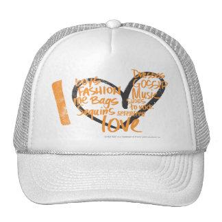 I Heart Graffiti Orange Trucker Hat