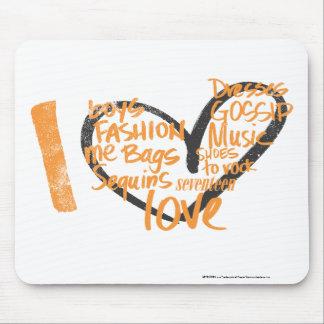 I Heart Graffiti Orange Mouse Mat