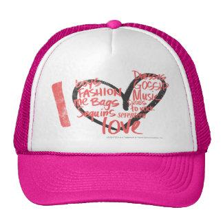 I Heart Graffiti Pink Trucker Hats