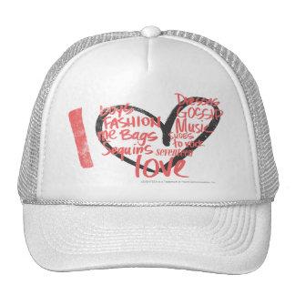 I Heart Graffiti Pink Hats