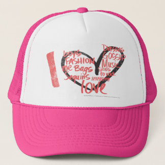 I Heart Graffiti Pink Trucker Hat