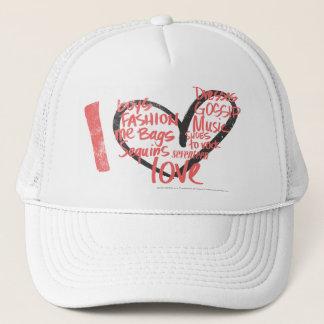 I Heart Graffiti Pink Trucker Hat