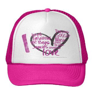 I Heart Graffiti Purple Hats