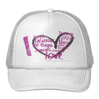 I Heart Graffiti Purple Trucker Hats