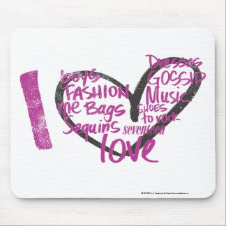 I Heart Graffiti Purple Mouse Mat