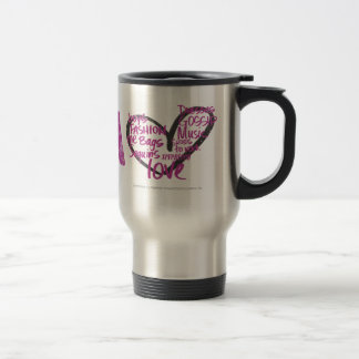 I Heart Graffiti Purple Travel Mug