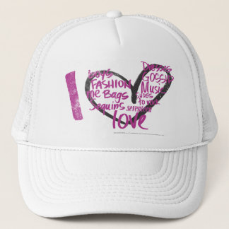 I Heart Graffiti Purple Trucker Hat
