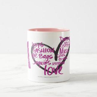 I Heart Graffiti Purple Two-Tone Coffee Mug