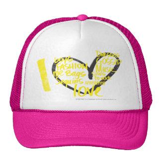 I Heart Graffiti Yellow Cap