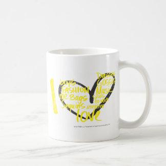 I Heart Graffiti Yellow Coffee Mug
