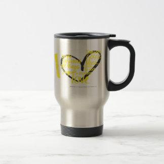 I Heart Graffiti Yellow Travel Mug