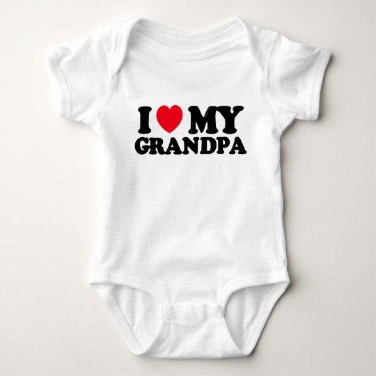 i heart grandpa baby bodysuit