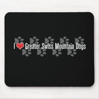 I (heart) Greater Swiss Mountain Dogs Mousepads